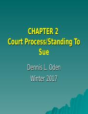CHP 2 ENV LAW Winter 2017 Standing To Sue and Cour (1)