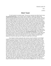 Essay on Mark Twain