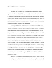 Religious studies essay on dalai lama