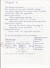 Bus Adm 382 Chapter 3 The External Envorinment Lecture Notes