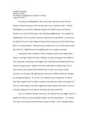 Entry Essay (Race)