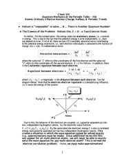 Document 16, Atomic Orbitals, Effective Nuclear Charge, Aufbau, and Periodic Trends