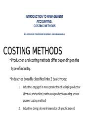 New Lecture 9 Job costing and batch costing methods.ppt