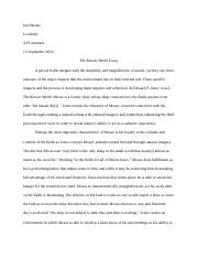 The Known World Essay (Edit 1)