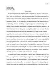 Final Draft Essay # 3