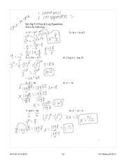 Log equations notes