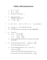 MTH215 2010 Exam Final Answers