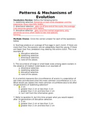 work sheet of evolution course lesupercoin printables worksheets. Black Bedroom Furniture Sets. Home Design Ideas