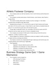Business Strategy Game Quiz 1