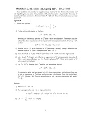 MATH 110 Spring 2014 Worksheet 6 Solutions