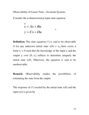 Lecture EE 550-18- 132 Observability of Linear Time