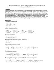 Homework D Solutions on Electromagnetic Theory
