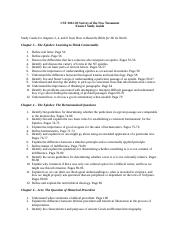 CST 2012 Exam 3 Study Guide