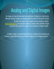 Analog and Digital Images