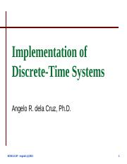 Lecture 7 - Implementation of Discrete-Time Systems.pdf