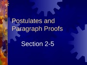2-5 Postulates and Paragraph Proofs
