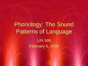 Phonology I-Phonemes