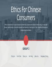 Group2-Ehics for Chinese behavior.ppt