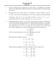 EPL337 Tutorial Sheet 9