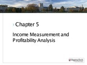 ASIS3115 Chapter 5 Income Measurement