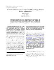 Individual Diffrence and Differential Psychology.pdf