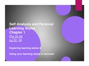 lec 1-Self Analysis