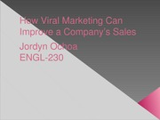 Informative Speech How Viral Marketing Can Improve a Company's Sales
