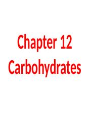 163Ch12Carbohydrates.ppt