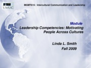 MGMT615 Motivation as Leadership- across culture, fall 09 (m-6)