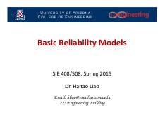 Lecture 3 - Basic Reliability Models_2015