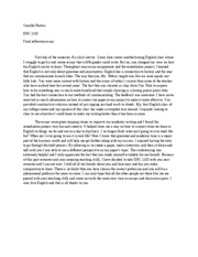 essay 2 enc 1102 Start studying enc 1102 mla internal citation quiz learn vocabulary, terms, and more with flashcards, games, and other study tools.