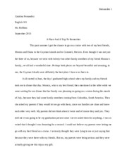 English Essay #1 FINAL DRAFT
