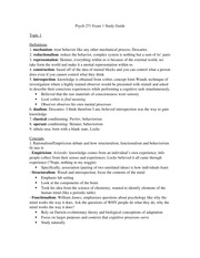 Psych 271 Exam 1 Study Guide