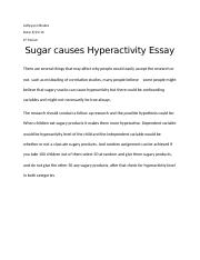 Sugar and Hyperactivity