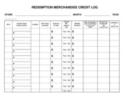 FL Merch Credit REDEMPTION LOG