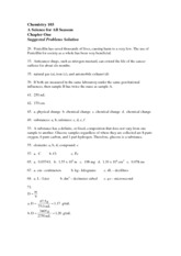 Chapter One - Suggested Problems