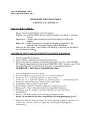 Exam 3-Part B_Study Guide-Chapter 14 & Chapter 17.docx