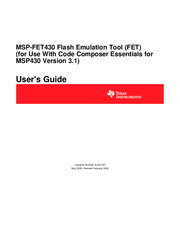 FET - slau157i - MSP-FET430 Flash Emulation Tool User's Guide