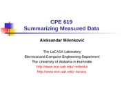 SummarizingMeasuredData