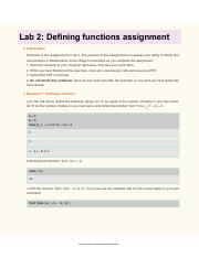 Lab 2 Defining Functions Assignment .pdf