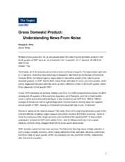 GDP_Understanding News From Noise