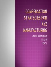 Compensation Strategies for XYZ Manufacturing