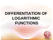 09 Differentiation of Logarithmic Functions