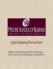 Capital Budgeting Discount Rates (student)