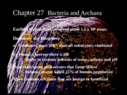 Chapter 27 Prokaryotes