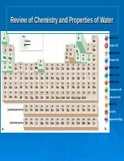 Review of Chemistry and Water.ppt