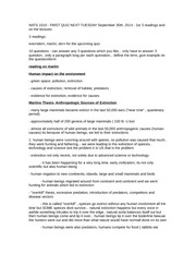 My notes - Lecture 2 - September 23rd, 2014
