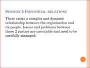 Session 5 Industrial relations
