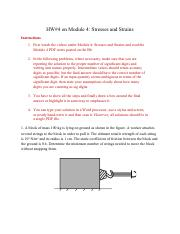 HW#4 on Module 4_ Stresses and Strains.pdf