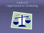 lecture8 Legal issues 2013